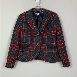 Pendleton Plaid Blazer size 8 100% Virgin Wool EUC